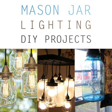 Mason Jar Lighting DIY Projects