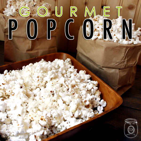 Asiago & Garlic Popcorn with Rosemary Salt