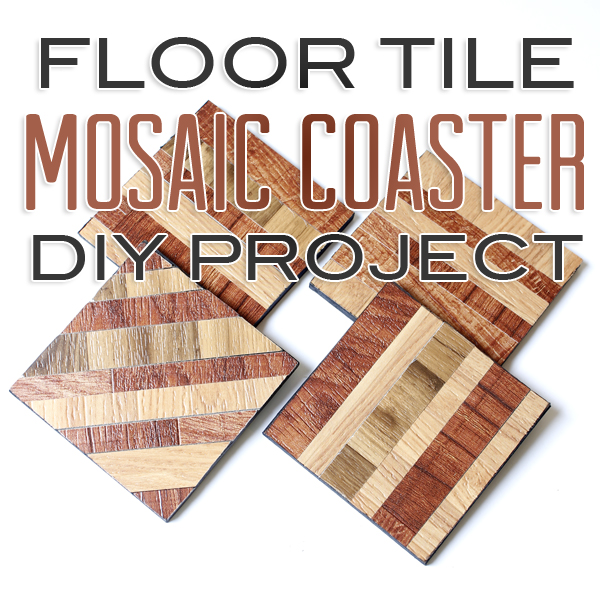 Floor Tile Mosaic Coaster DIY Project