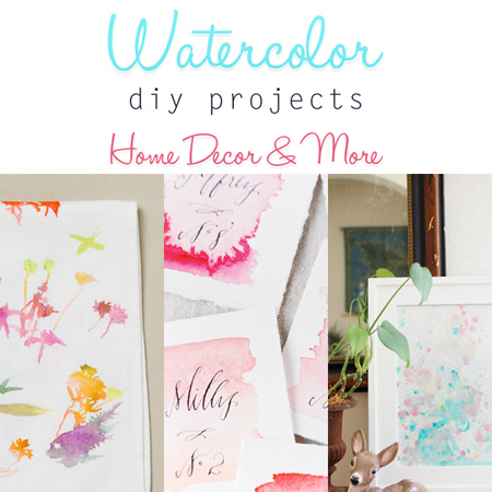 Watercolor Diy Projects Home Decor More
