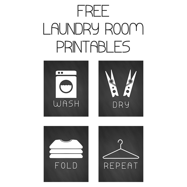 Free Printable Laundry Room Chalkboard Art The Cottage