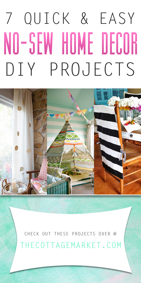 7 quick and easy no sew home decor diy projects the for Decor quick