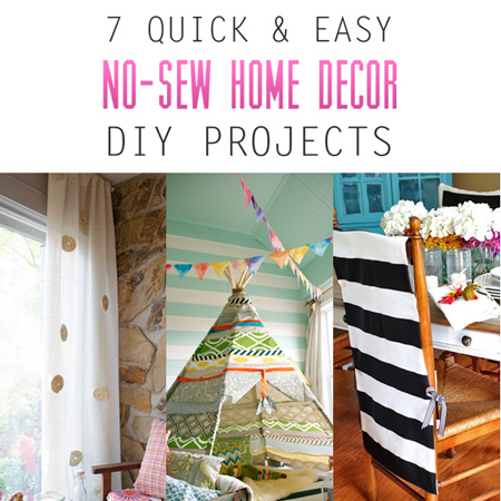 7 Quick And Easy No Sew Home Decor Diy Projects The