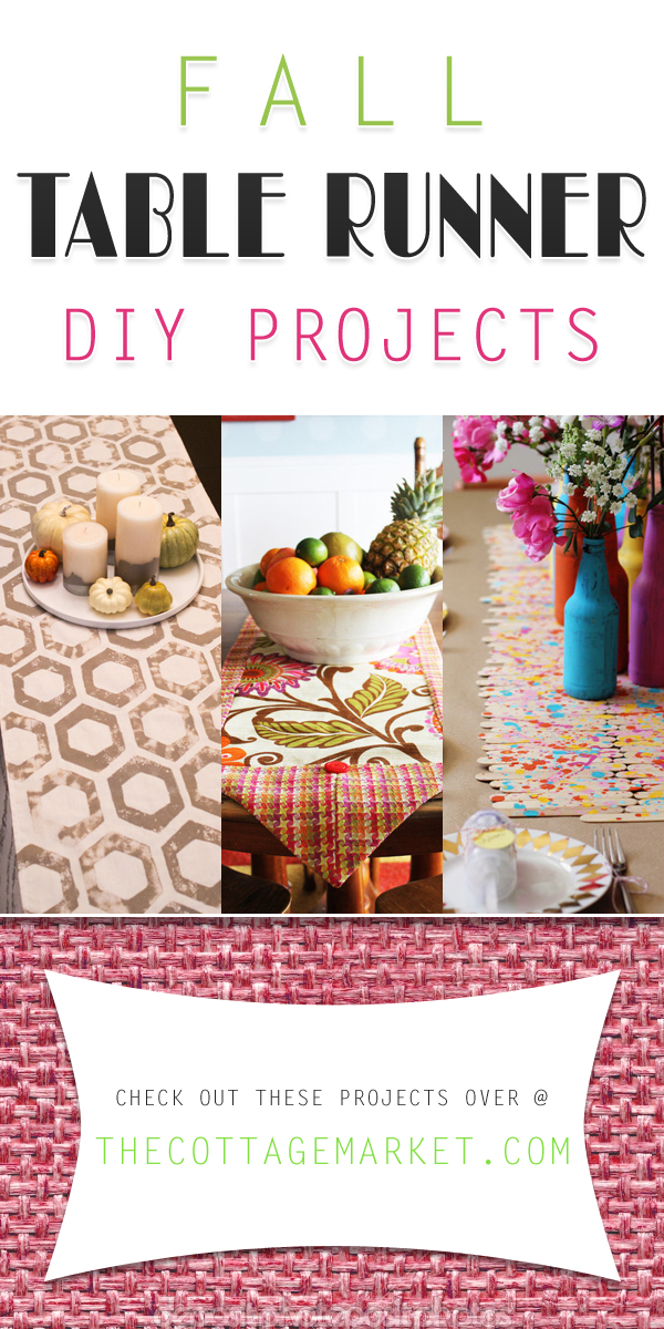 Fall Table Runner Diy Projects The Cottage Market