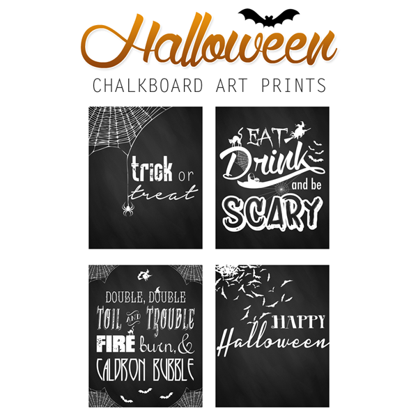 Free Printable Halloween Chalkboard Art