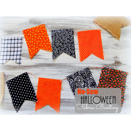 No-Sew Halloween Fabric Bunting