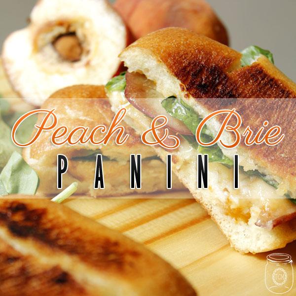 Peach and Brie Panini