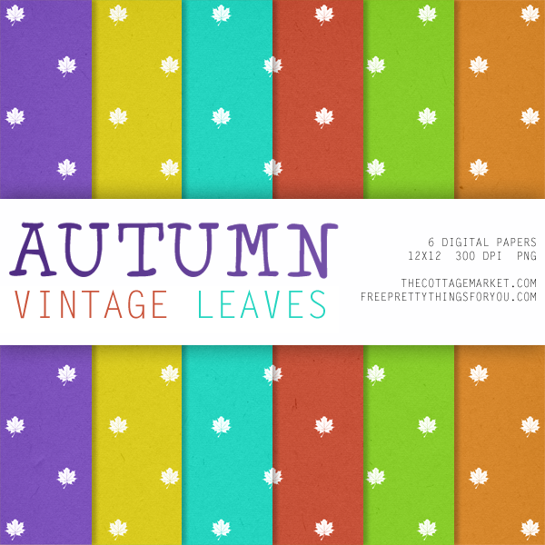 Free Autumn Digital Scrapbooking Paper Packs