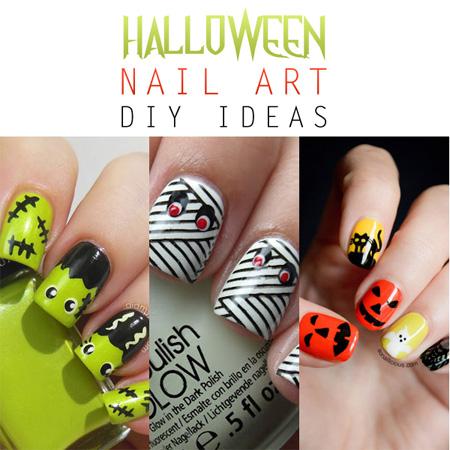 halloween nail art diy ideas