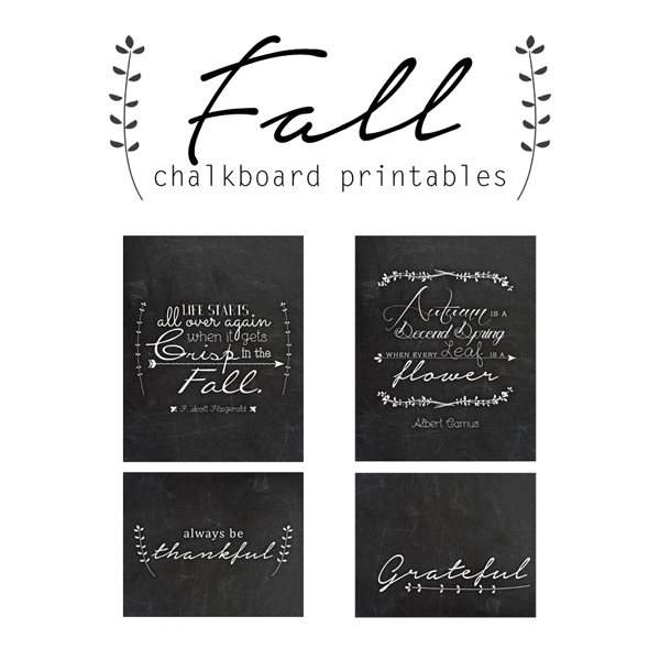 Fall Chalkboard Printables (free artwork!)