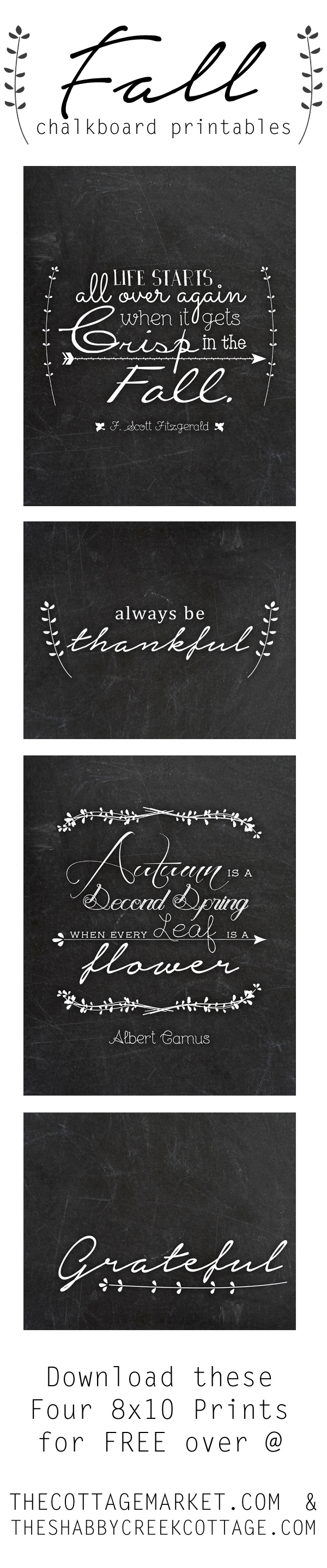 Fall Chalkboard Printables (free art!)