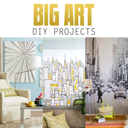 big wall art diy projects the cottage market