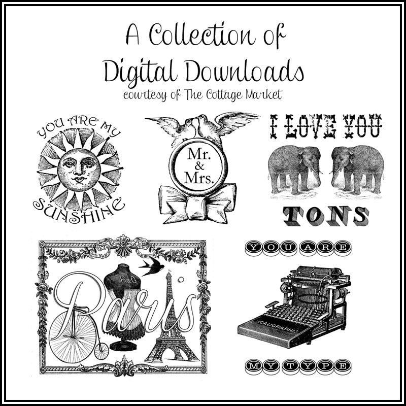 50 FREE Digital Downloads A Collection of digital collages and embellished graphics