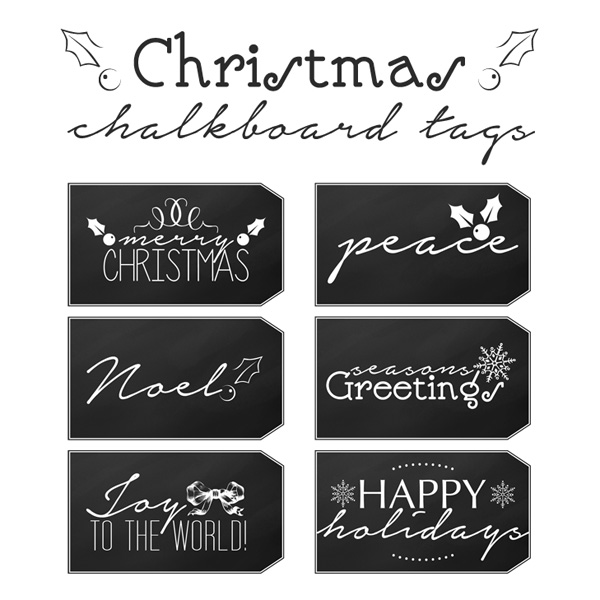 photograph regarding Printable Christmas Tags Black and White referred to as Totally free Printable Xmas Chalkboard Tags - The Cottage Current market