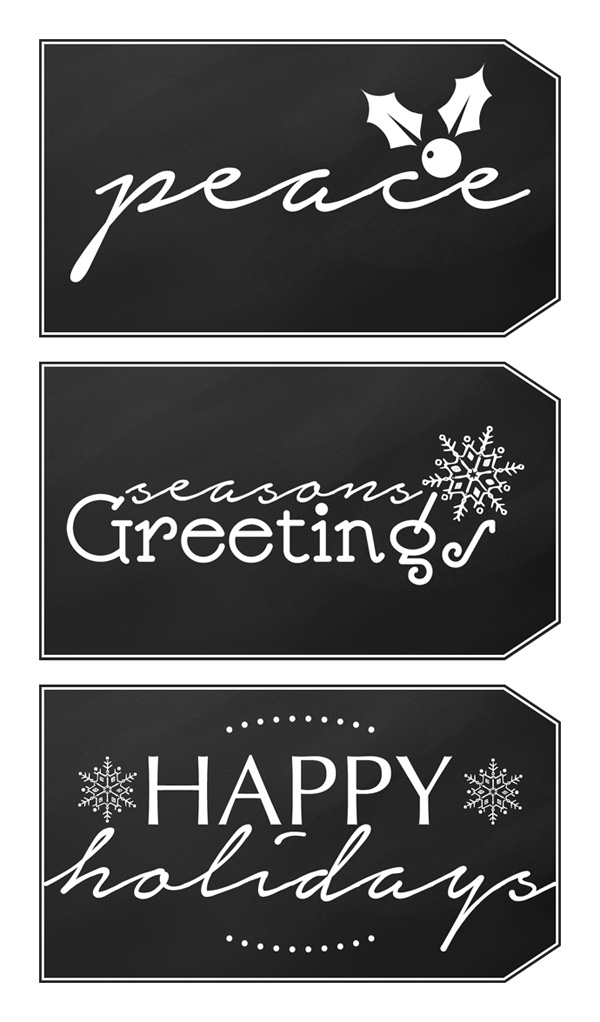 graphic relating to Free Printable Chalkboard Labels named Cost-free Printable Xmas Reward Tags: Chalkboard