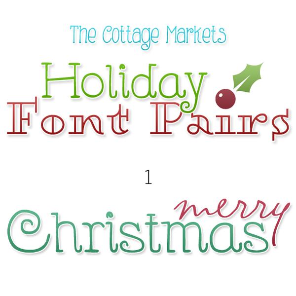 Free Fonts Holiday Pairs
