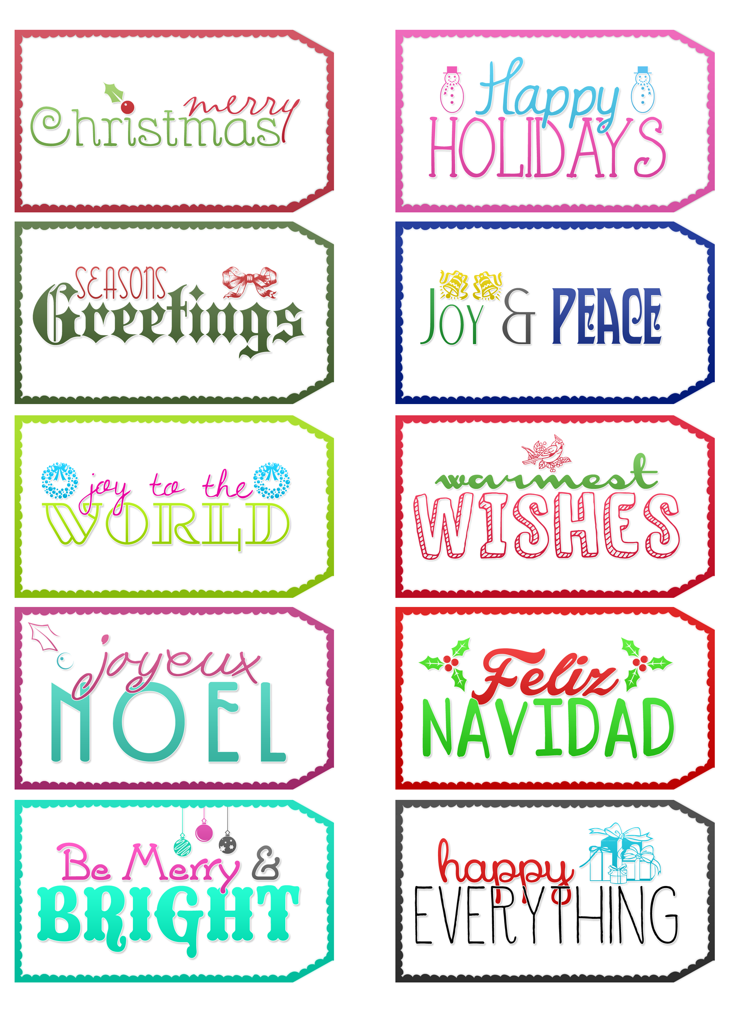 image regarding Printable Holiday Tags identify Cost-free Printable Trip Tags - The Cottage Industry