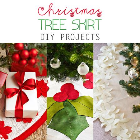 christmas tree skirt diy projects - Christmas Tree Skirt Ideas