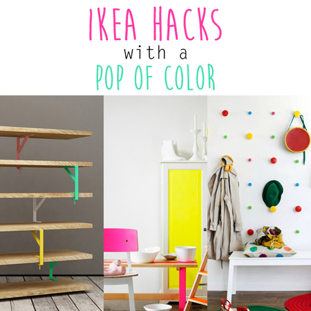 Ikea Hacks with a Pop of Color