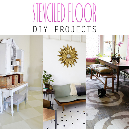 Stenciled Floor DIY Projects