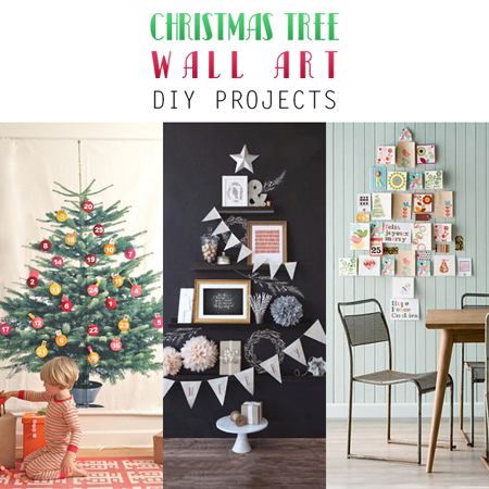christmas tree wall art diy projects the cottage market. Black Bedroom Furniture Sets. Home Design Ideas