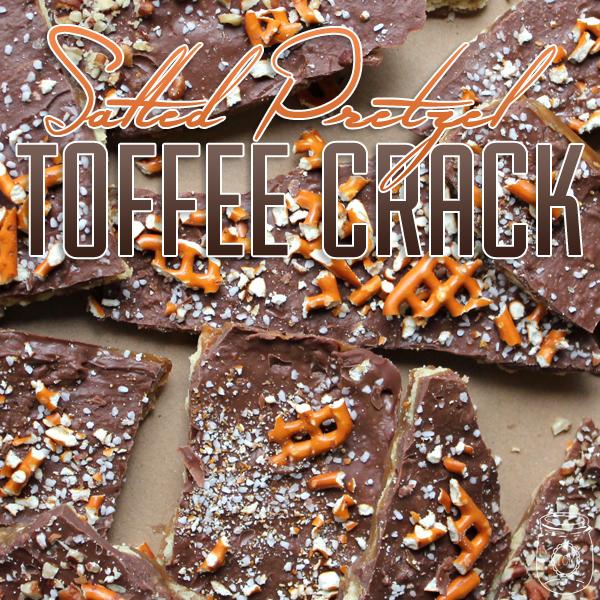 Salted Pretzel Toffee Crack