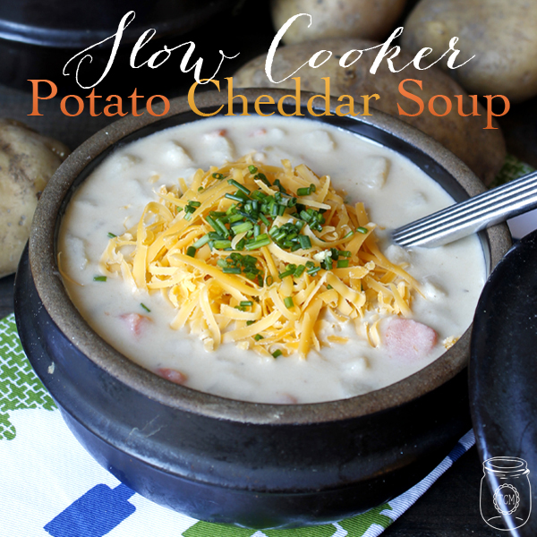 Slow Cooker Potato Cheddar Soup