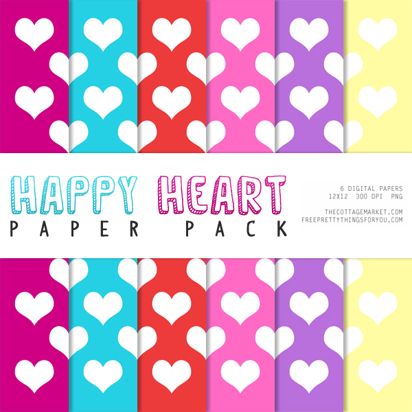 Free Digital Scrapbooking Paper for Valentine's Day
