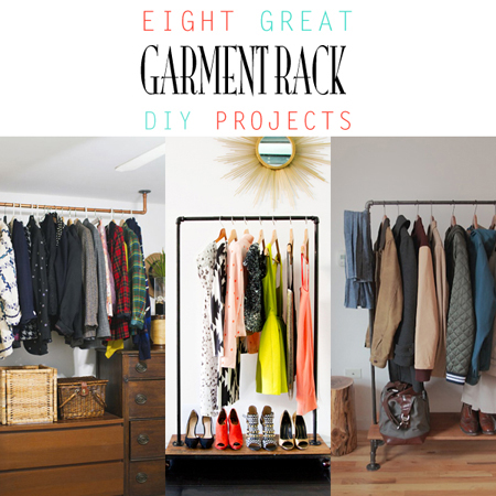 8 Great Garment Rack DIY Projects