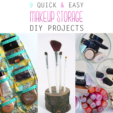 9 Quick And Easy Makeup Storage Diy Projects The Cottage