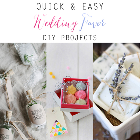 Quick And Easy Wedding Favor Diy Projects The Cottage Market