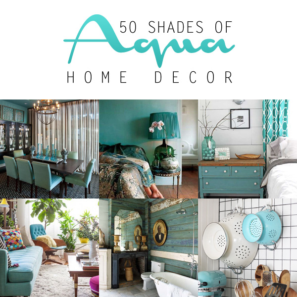 50 shades of aqua home decor the cottage market bloglovin