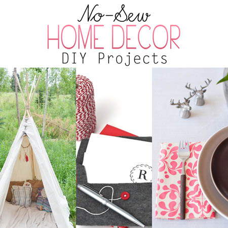 No-Sew Home Decor DIY Projects
