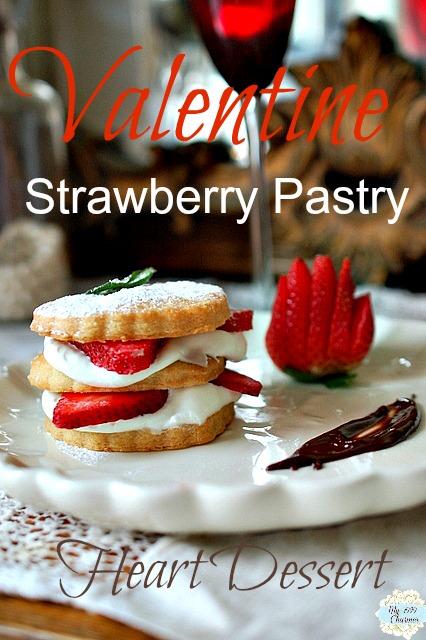 Strawberry-Pastry-Heart-Dessert