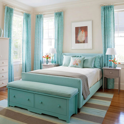 Aqua Bedroom Decorating Ideas