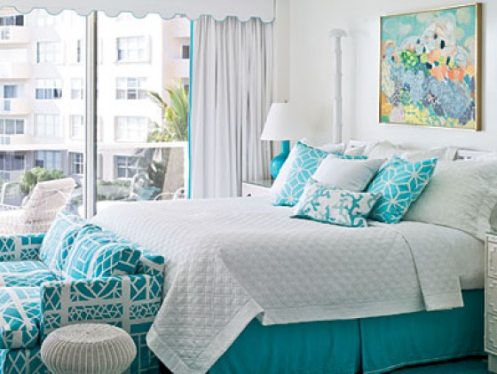 50 shades of aqua home decor the cottage market for Aquamarine bedroom ideas