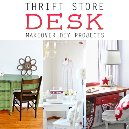 Thrift Store Desk Makeover DIY Projects
