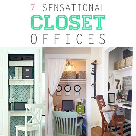 closet office space. Diy Closet Office. 7 Sensational Offices Office Space D