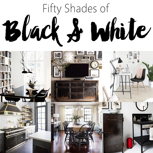 50 shades of black and white home decor the cottage market for Black home decor accessories
