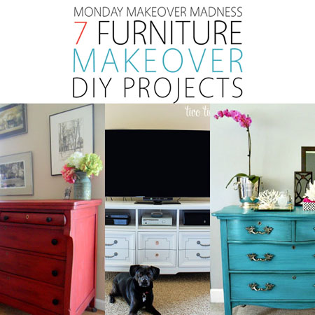 Monday Makeover Madness: 7 Furniture Makeover DIY Projects