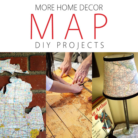 More home decor map diy projects the cottage market for Diy flea market projects