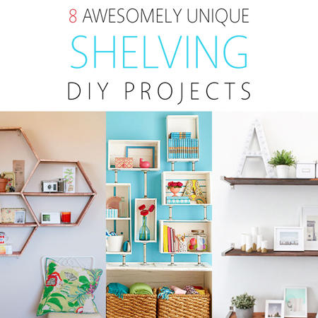 8 awesomely unique shelving diy projects the cottage market for Unique shelves diy