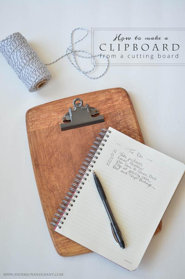 Tutorial for making clipboard from bread board copy