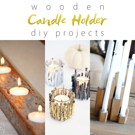 Wooden Candle Holder DIY Projects