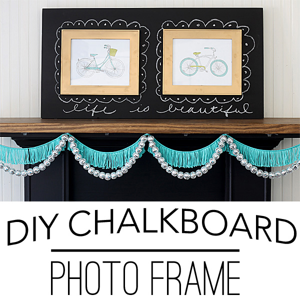 DIY-chalkboard-photo-frame