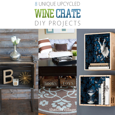 8 unique upcycled wine crate diy projects the cottage market for Diy wine crates