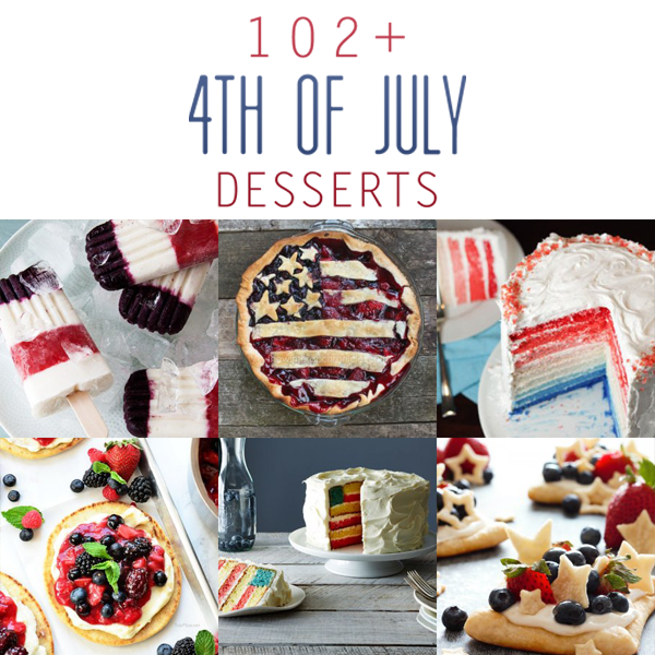 102+ 4th of July Desserts