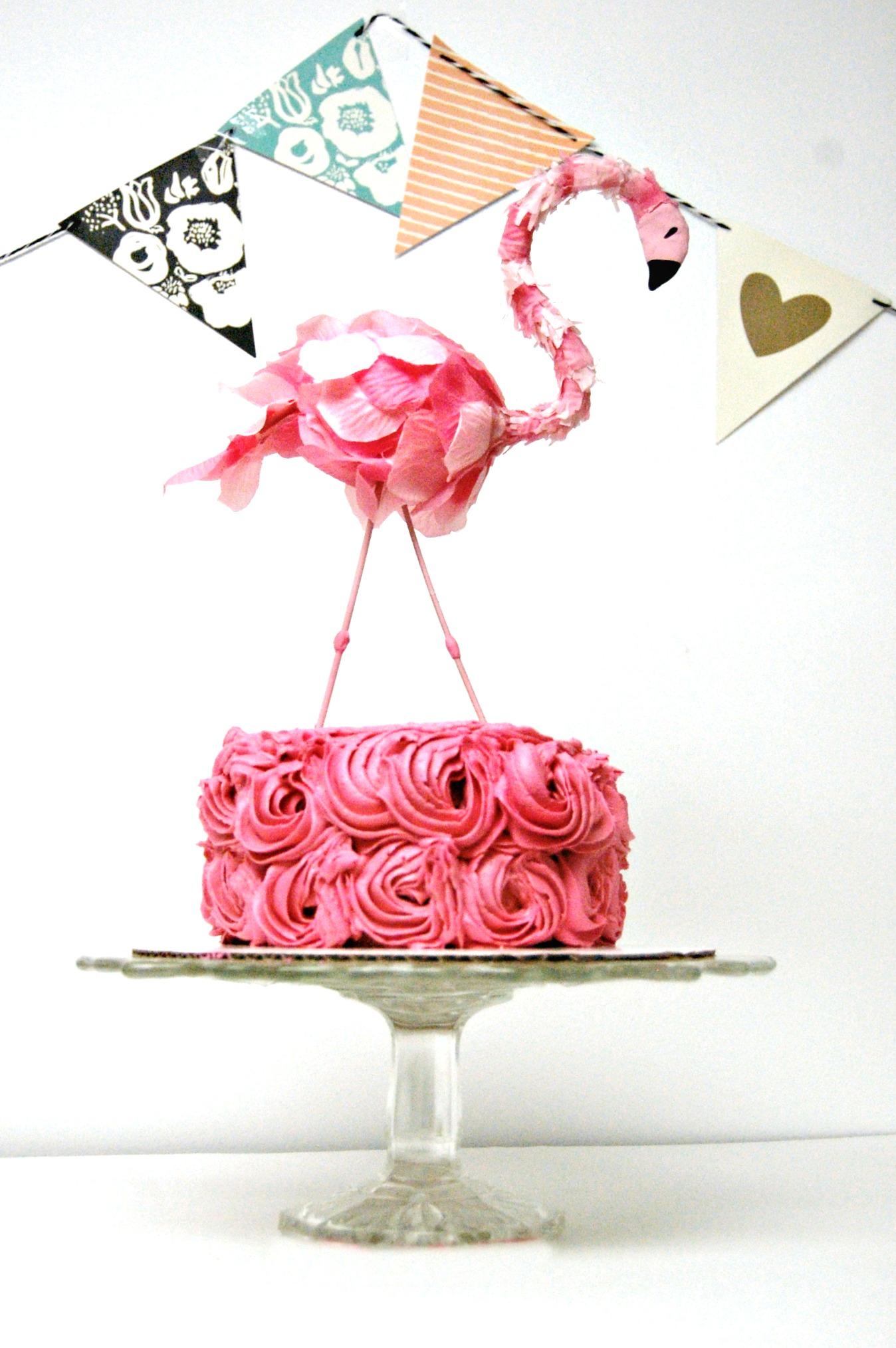 Diy pink flamingo party ideas the cottage market flamingo cake topper diy solutioingenieria Images