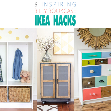 ikea hacks 6 inspiring billy bookcases the cottage market. Black Bedroom Furniture Sets. Home Design Ideas