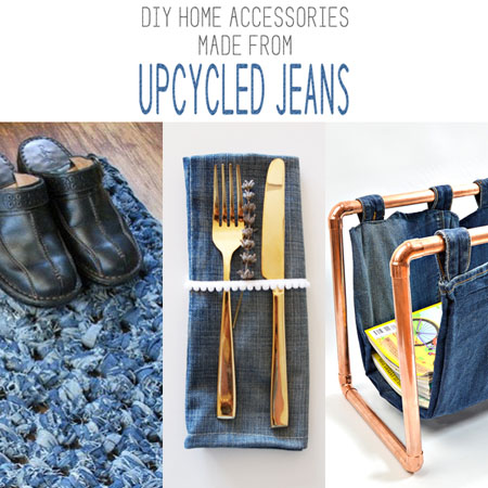 DIY Home Accessories made from Upcycled Jeans
